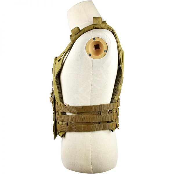 qmfive gilet tattica softair paintball laterale