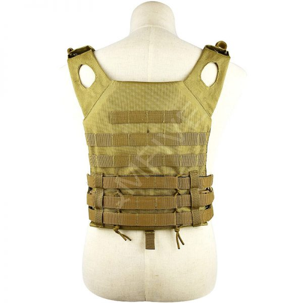qmfive gilet tattica softair paintball schiena